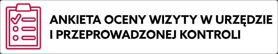 Baner: ankieta wizyty w urzędzie. Prowadzi do strony mf.gov.pl